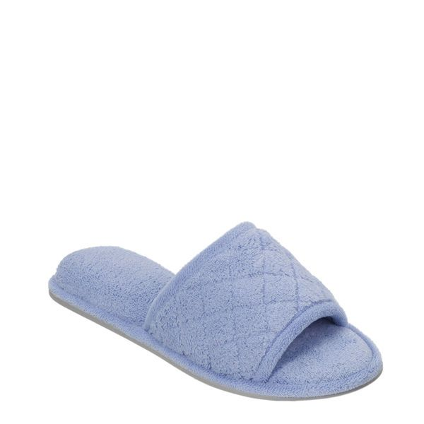 Feelinwow Microfiber Quilted Terry Slide Blue