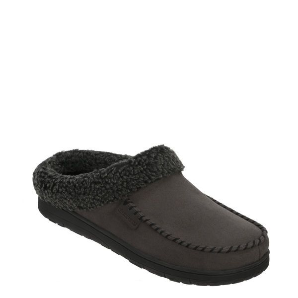 Feelinwow Microsuede Clog Slipper with Cuff Grey