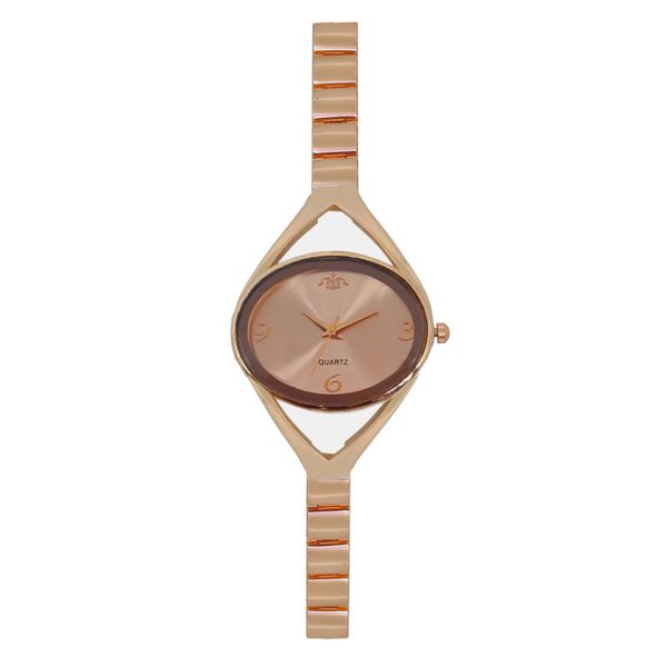 JM New Realy Brown Round Analog Metal Watch