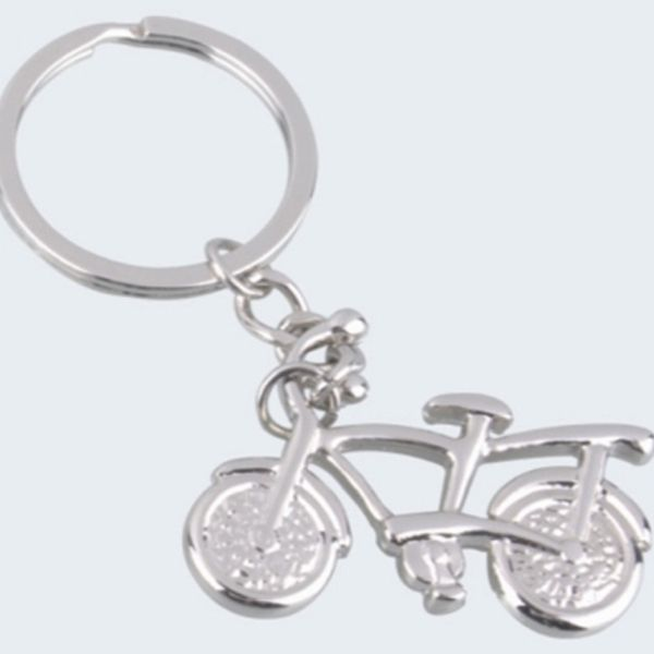Daffodils Cycle Key Chain Silver