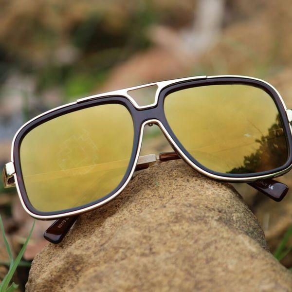 stylish looking deeep yellow sunglasses for women