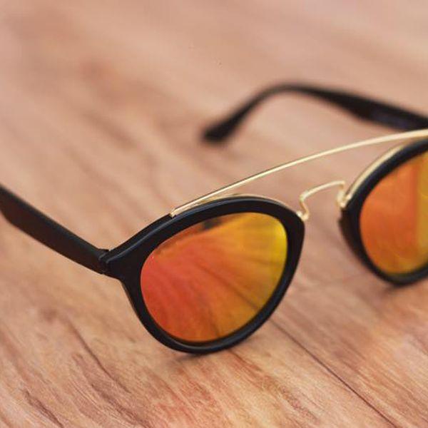 stylish looking Orange and Black  sunglasses for men