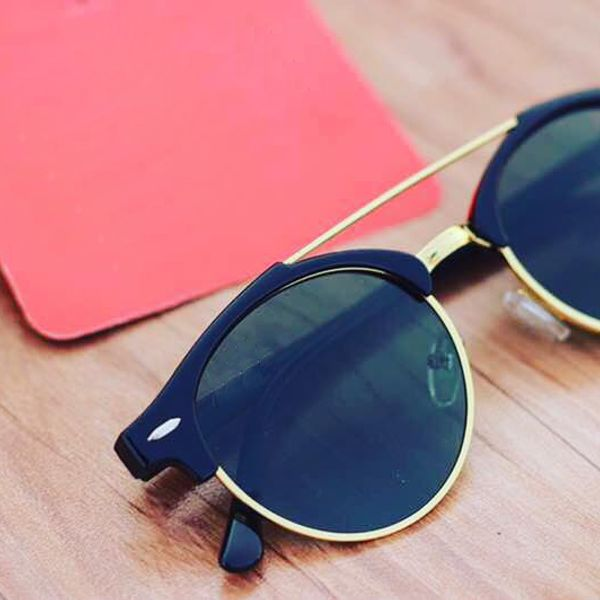 stylish looking Sky Gold and Black  sunglasses for men