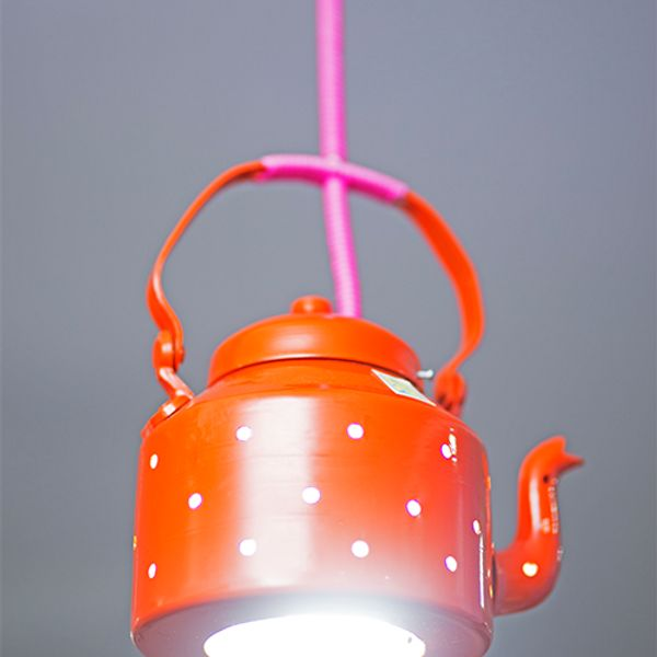 Poppadumart Kettle Lamp Orange