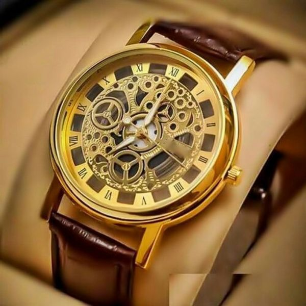 Transparent mechanical Look Dial Staylish Mens wrist Watch
