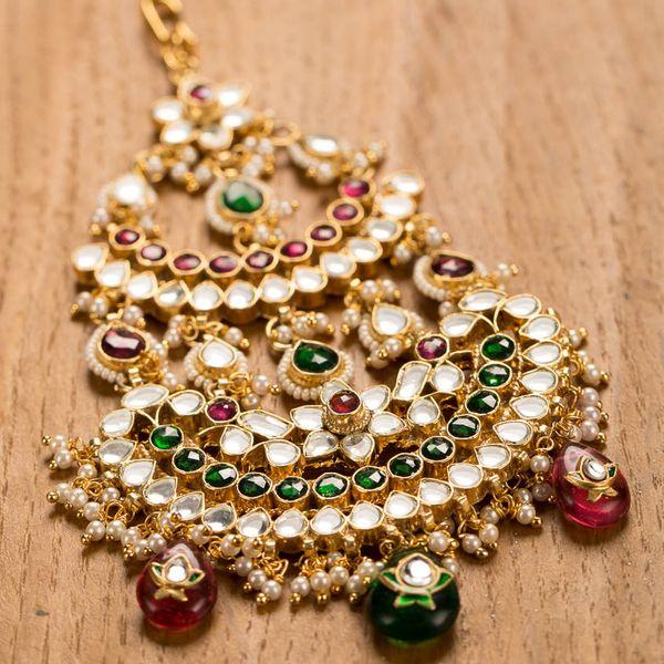 Gold Plated Kundan Passa