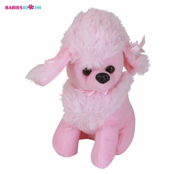 Babies Bloom Pink Kawaii Poodle Dog Puppy Stuffed Plush Dog Toy