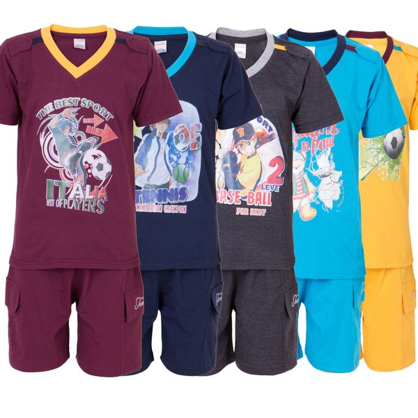 Ultrafit Junior Boys Cotton MultiColored Twin Sets- Pack of 5239