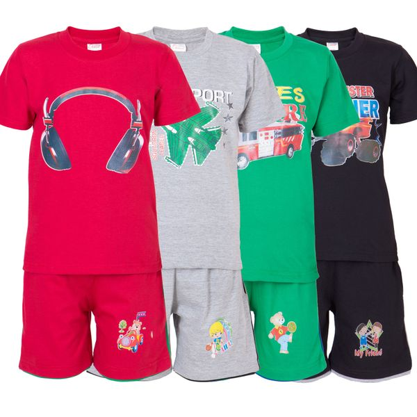Ultrafit Junior Boys Cotton MultiColored Twin Sets- Pack of 4236