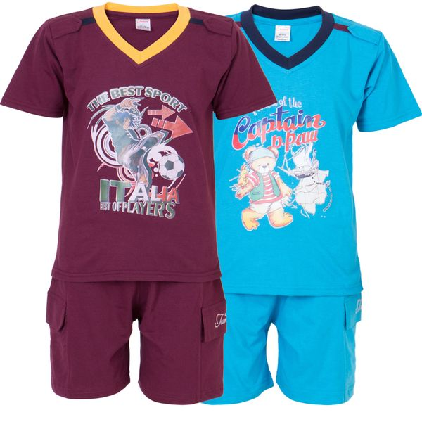Ultrafit Junior Boys Cotton MultiColored Twin Sets- Pack of 2226