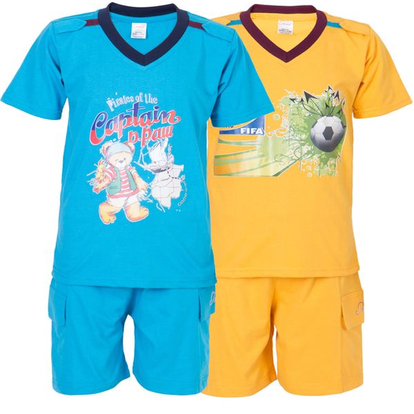Ultrafit Junior Boys Cotton MultiColored Twin Sets- Pack of 2223