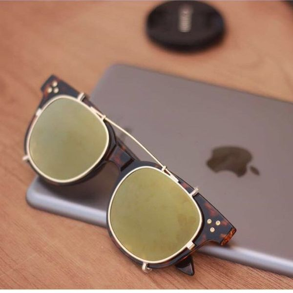 brown and green stylish sunglasses 0246
