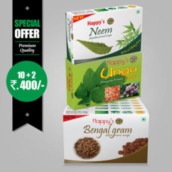 Happys Bengal Gram Soap Pay for 10 Get 12 Combo Offer