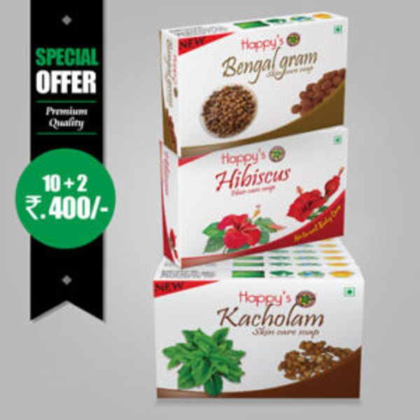 Happys Kacholam Soap Pay for 10 Get 12 Combo Offer