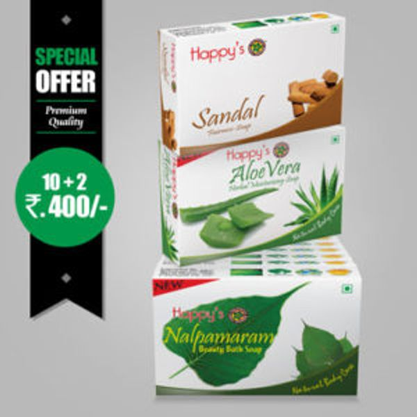 Happys Nalpamaram Soap Pay for 10 Get 12 Combo Offer