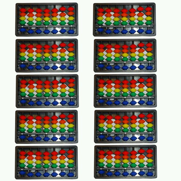 7 Rod Multi Color Abacus Kit Set Of 10