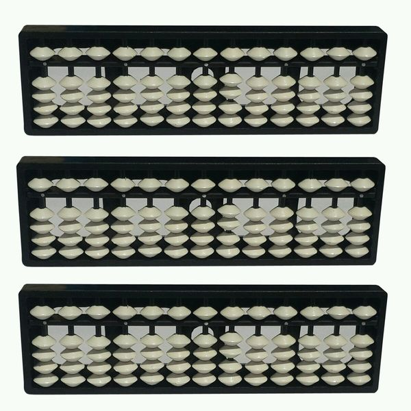 13 Rod White Color Abacus Kit Set Of 3