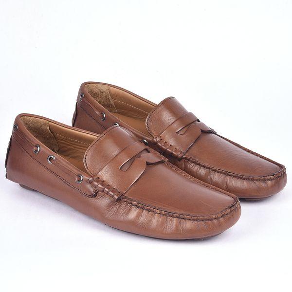 Classe Italiana Romain Brown Leather Loafers