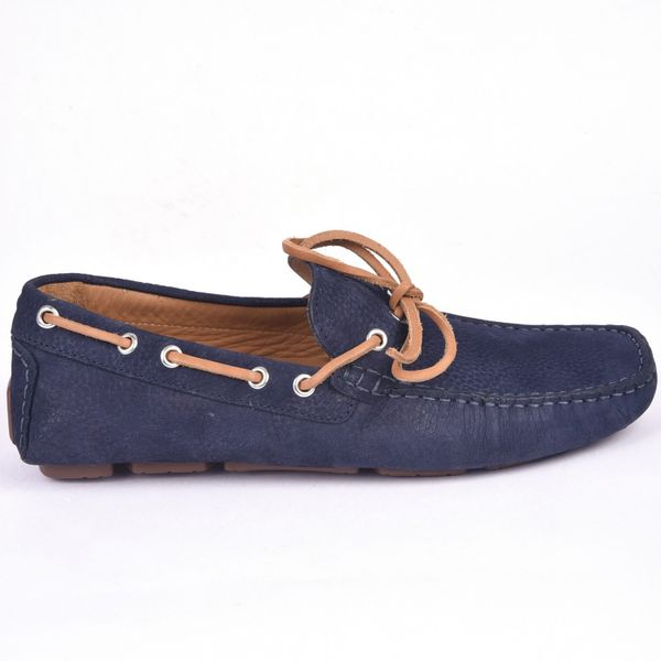 Classe Italiana Romain Navy Nubuck Loafers Shoes