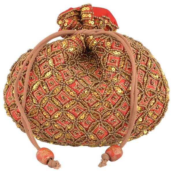 Kleio Ethnic Potli Red