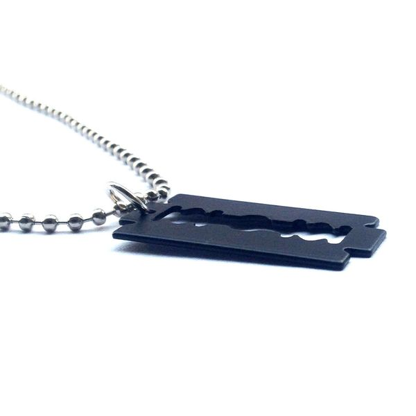 Buy jocular black blade stylish locket with silver chain at 65 jocular black blade stylish locket with silver chain thecheapjerseys Choice Image