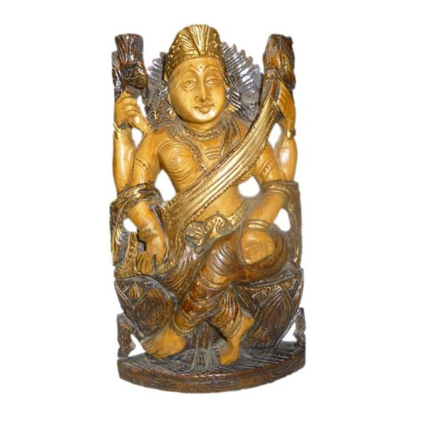 Craftofy Multi Colored Saraswati Idol
