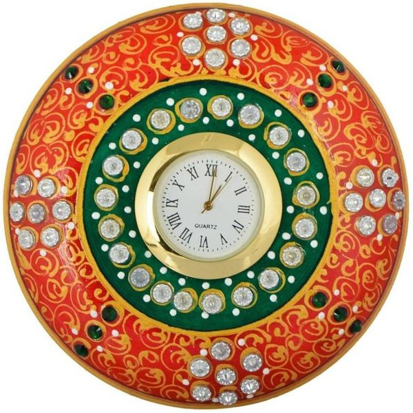 Kamakshi Art Marbal Round Watch