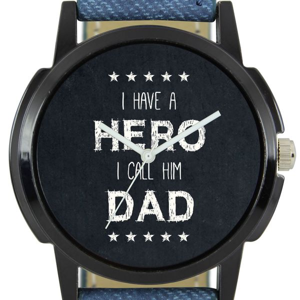 The Shopoholic Casual Analog Black Dial Blue Leather Belt Watches For Boys-Men Watch Formal