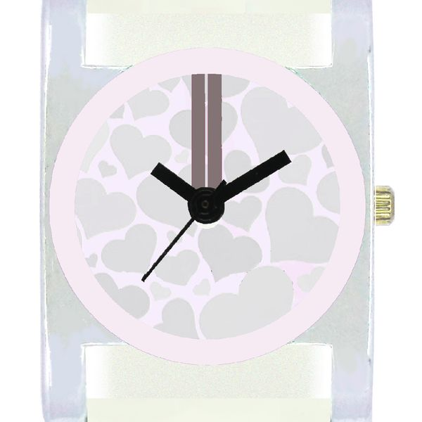 The Shopoholic Designer White Square Heart Dial Awesome Analog Watches For Women-Watches For Girls Stylish