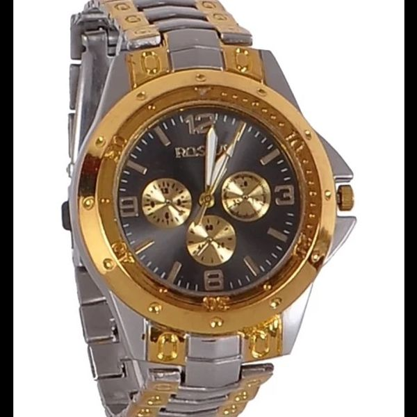 Golden And Grey New Fancy Metal Wrist Men Watch