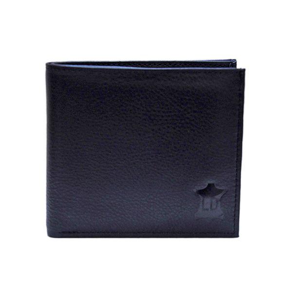 Leather Design Black Leather Designer Zip Men Long Wallet