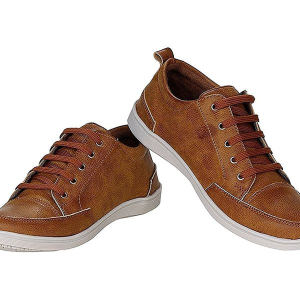 Mens Brown Casual Sneakers Shoes