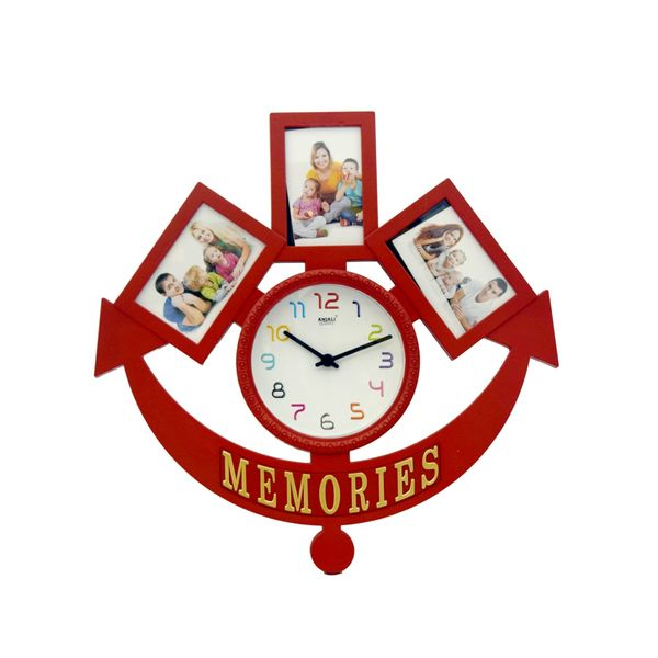 Memories Collage 3 in 1 Photo Frame with Clock