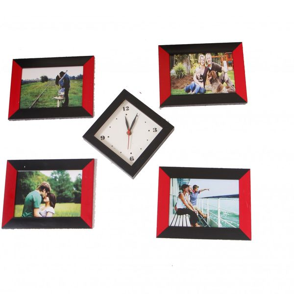 PHOTO FRAME BY FRME RT 5 PIECES COLLAGE WITH WATCH