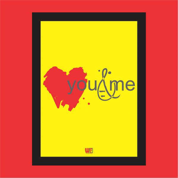 You and Me Photo Frame RedYellow
