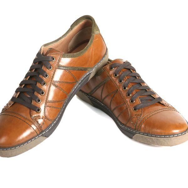 SCHUE MAKER Tan Men Lace Up Casual Shoes