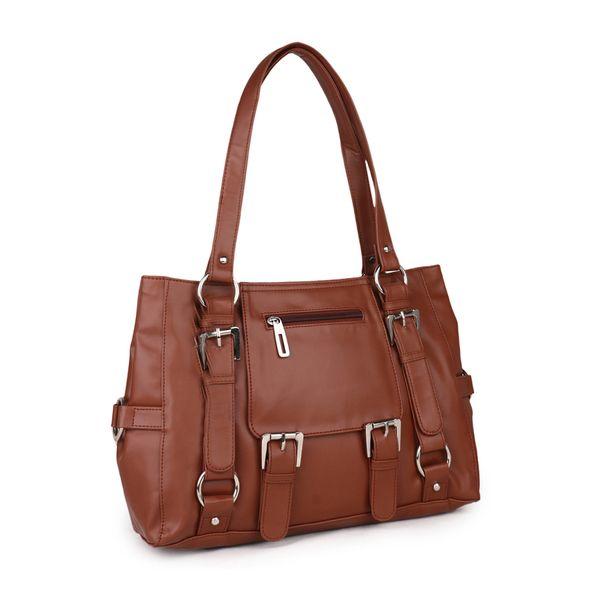 Goldmine Women Hand-held Bag Brown Color