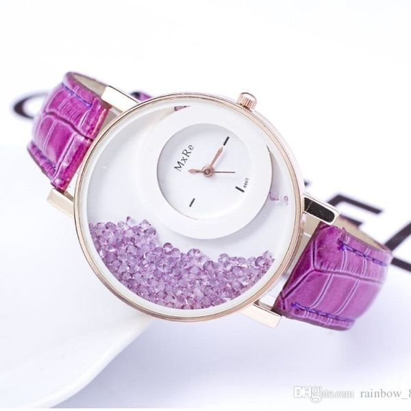 Purple Diamond Wrist Watch