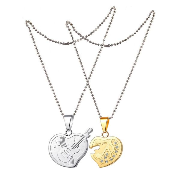 Buy Men Style Cz Heart Musical Note Music At Lowest Price
