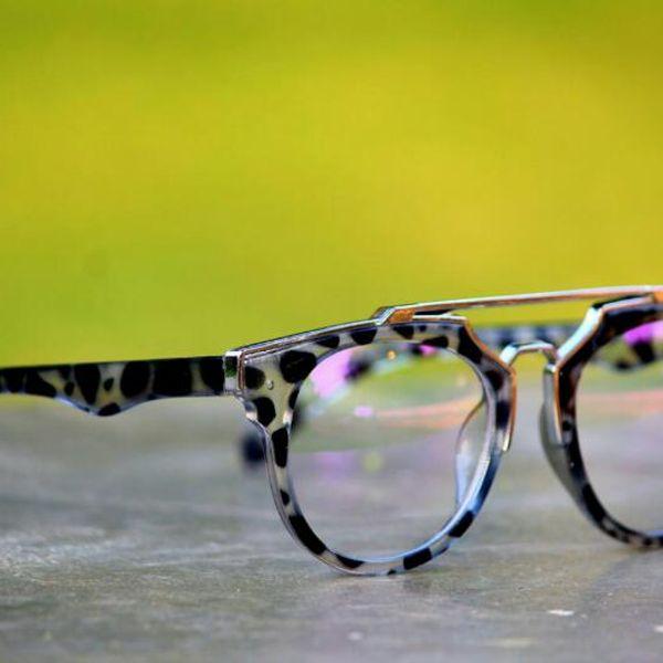 Sunglasses Tiger Frame Grey Transparent Glass Goggles