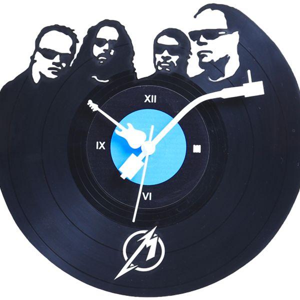 wall clock Metal lover unique designer round black  perfect gift