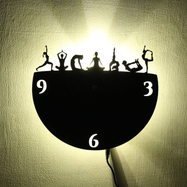 Wall Light Come Wall Clock - Yoga