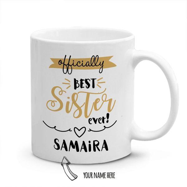 Best Sister Personalized Mug