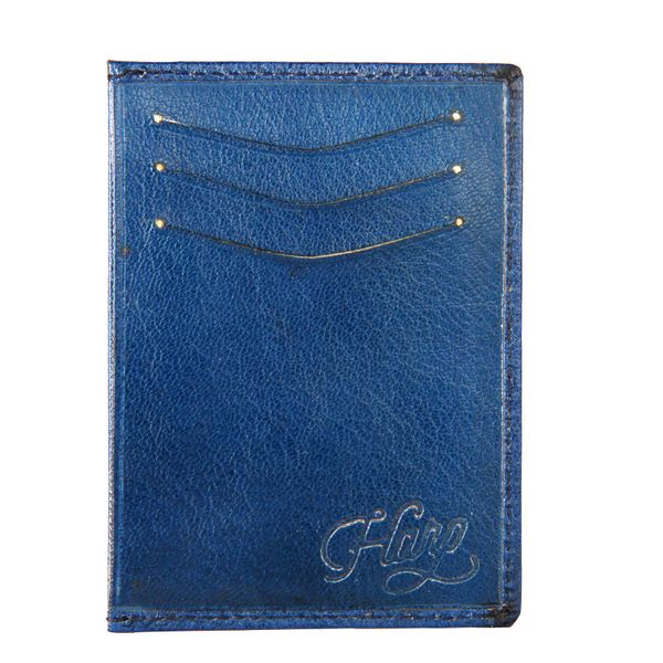 Harp Harp blue Color Leather Material Wallets