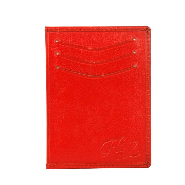 Harp Harp red Color Leather Material Wallets