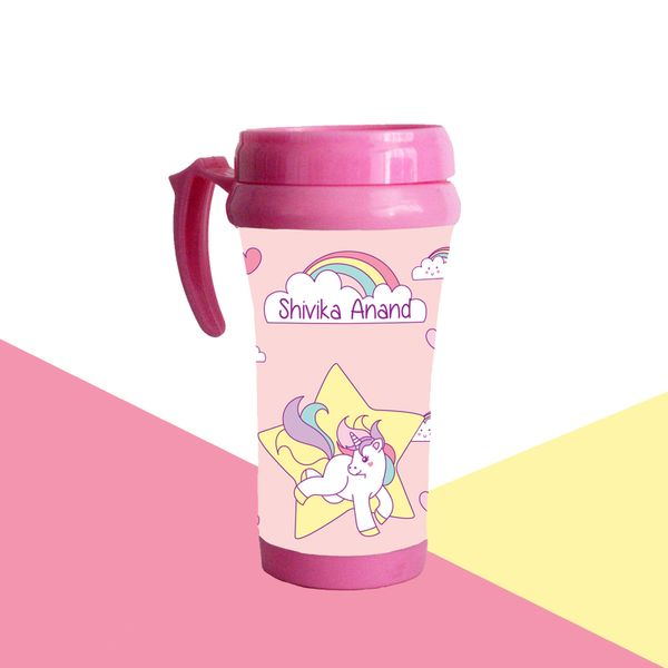 Unicorn Theme Travel Mug