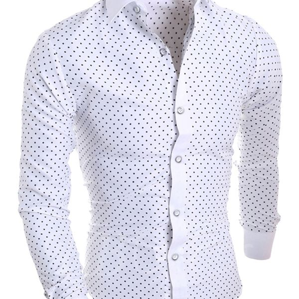 New Fancy White Cotton Formal Men Shirt