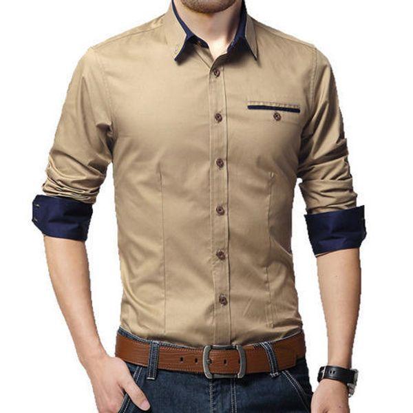 New Fancy Wood Polyester Formal Men Shirt