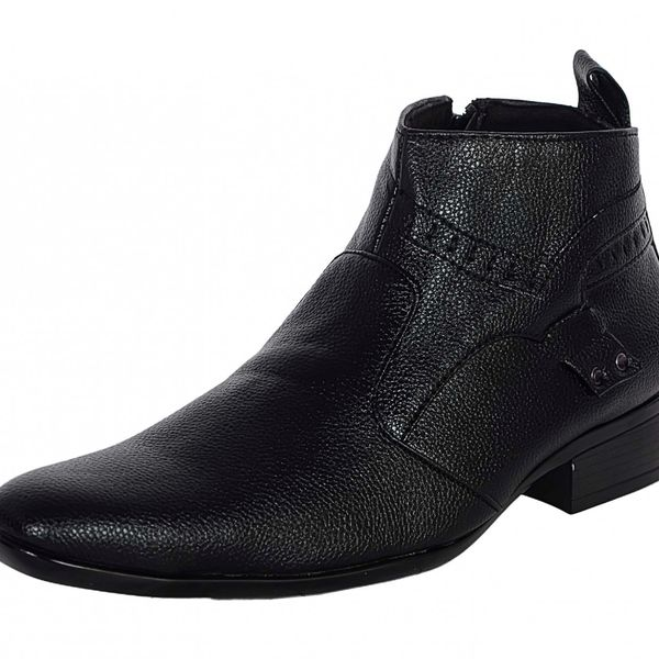 1AAROW 2803 SIDE CHAIN BLACK MENS BOOTS