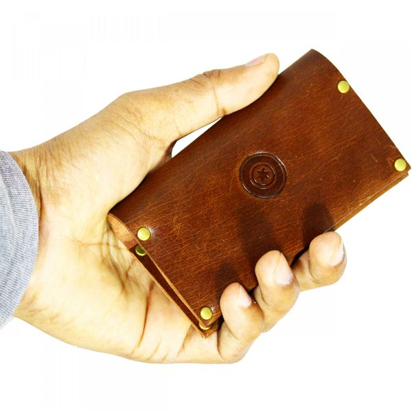 POLLSTAR Full Grain Genuine Leather Up to 16 card Slots Card holder for Men  Women CH2001BN